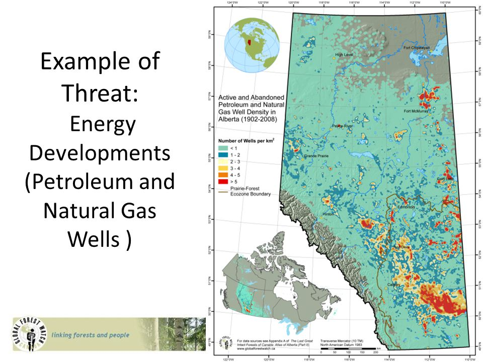 Example of Threat: Energy Developments (Petroleum and Natural Gas Wells )