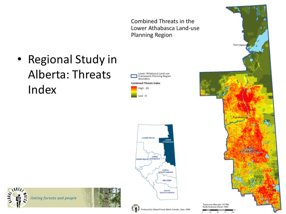 Regional Study in Alberta: Threats Index