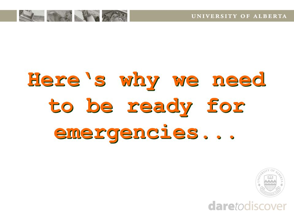 Here's why we need to be ready for emergencies...