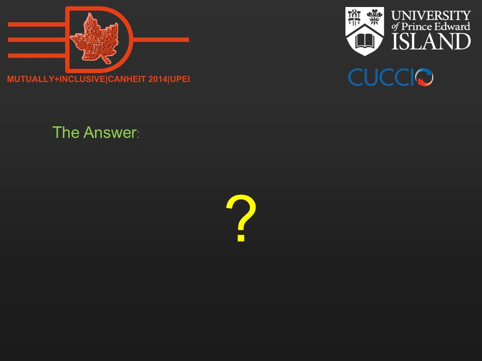 The Answer :