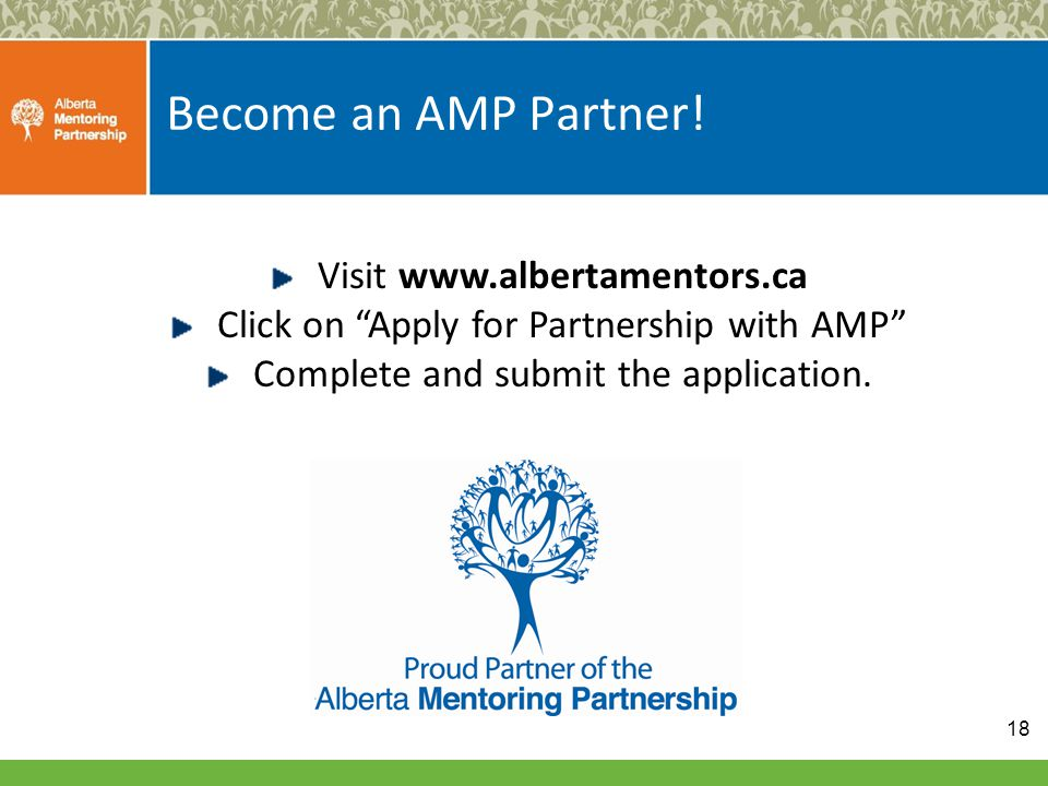 Become an AMP Partner.