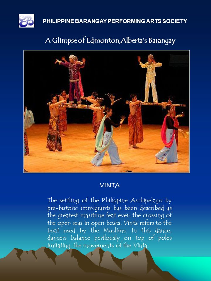 VINTA The settling of the Philippine Archipelago by pre-historic immigrants has been described as the greatest maritime feat ever: the crossing of the open seas in open boats.