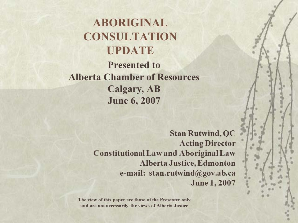 Mikisew Cree First Nation v.Canada, Copps, Thebacha Road Society et al.