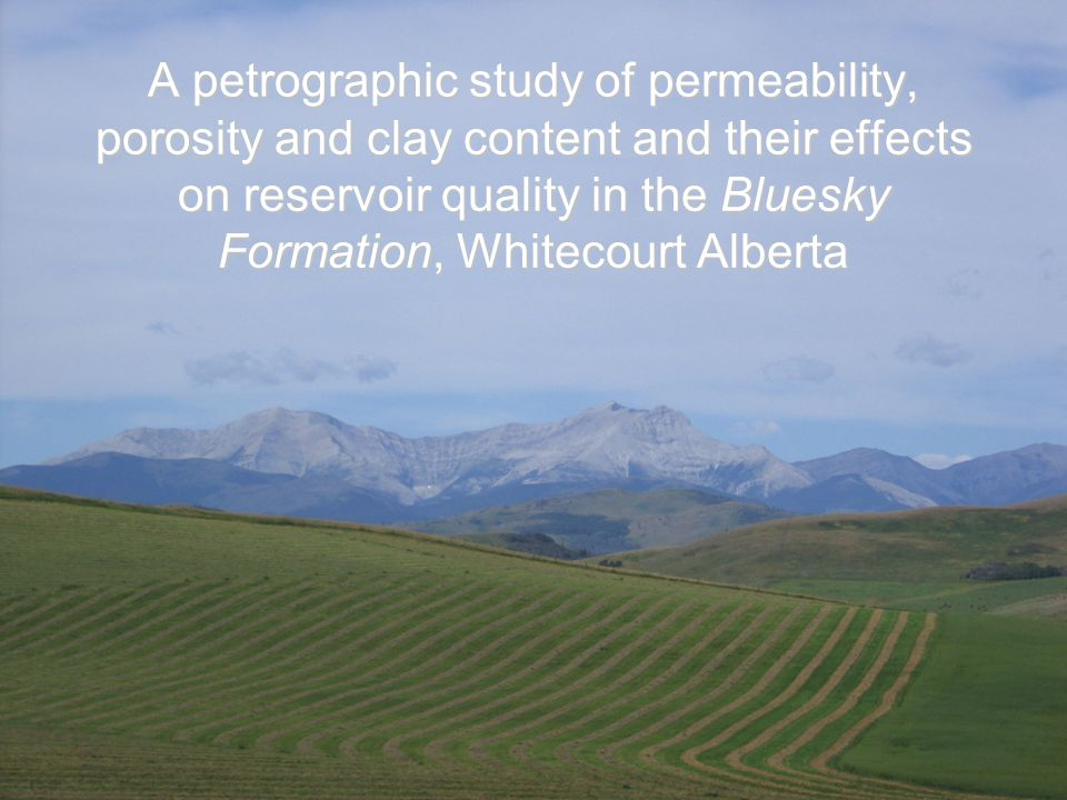 A petrographic study of permeability, porosity and clay content and their effects on reservoir quality in the Bluesky Formation, Whitecourt Alberta