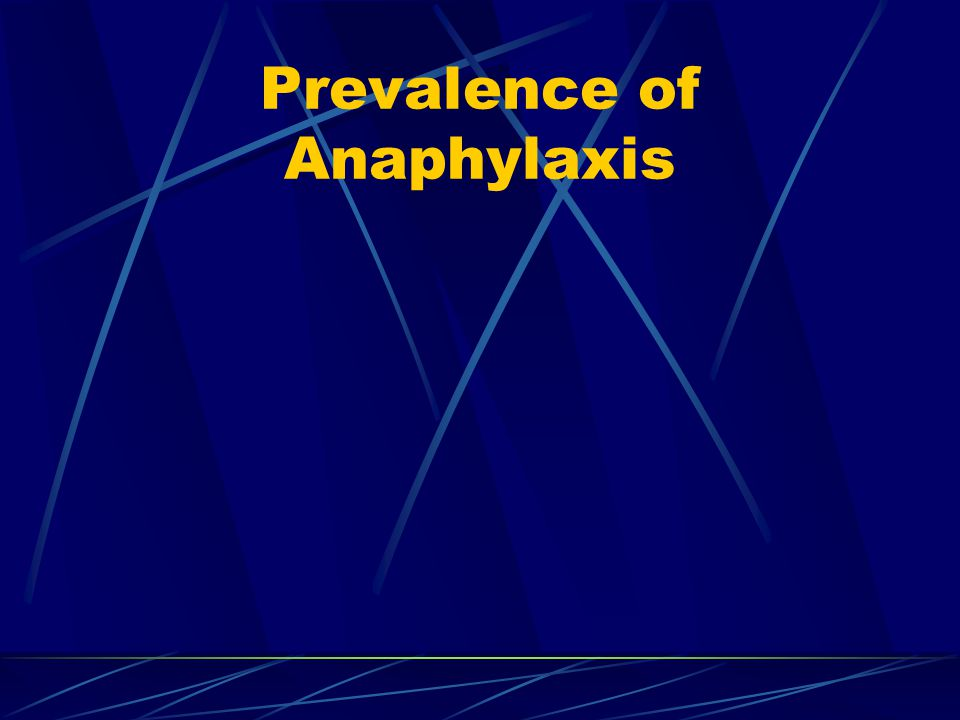 Prevalence of Anaphylaxis