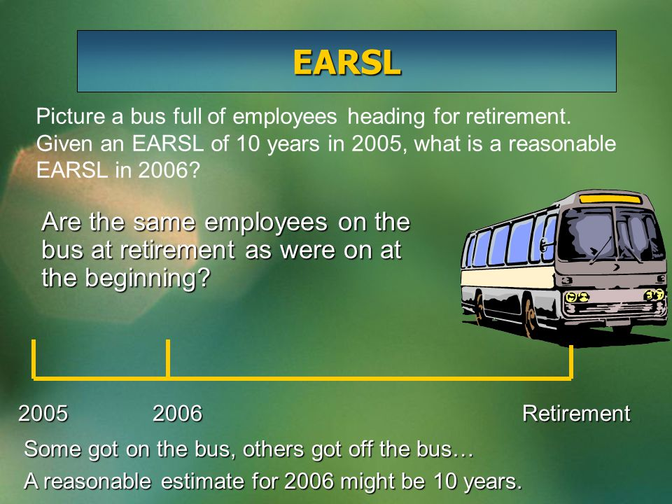 Picture a bus full of employees heading for retirement.