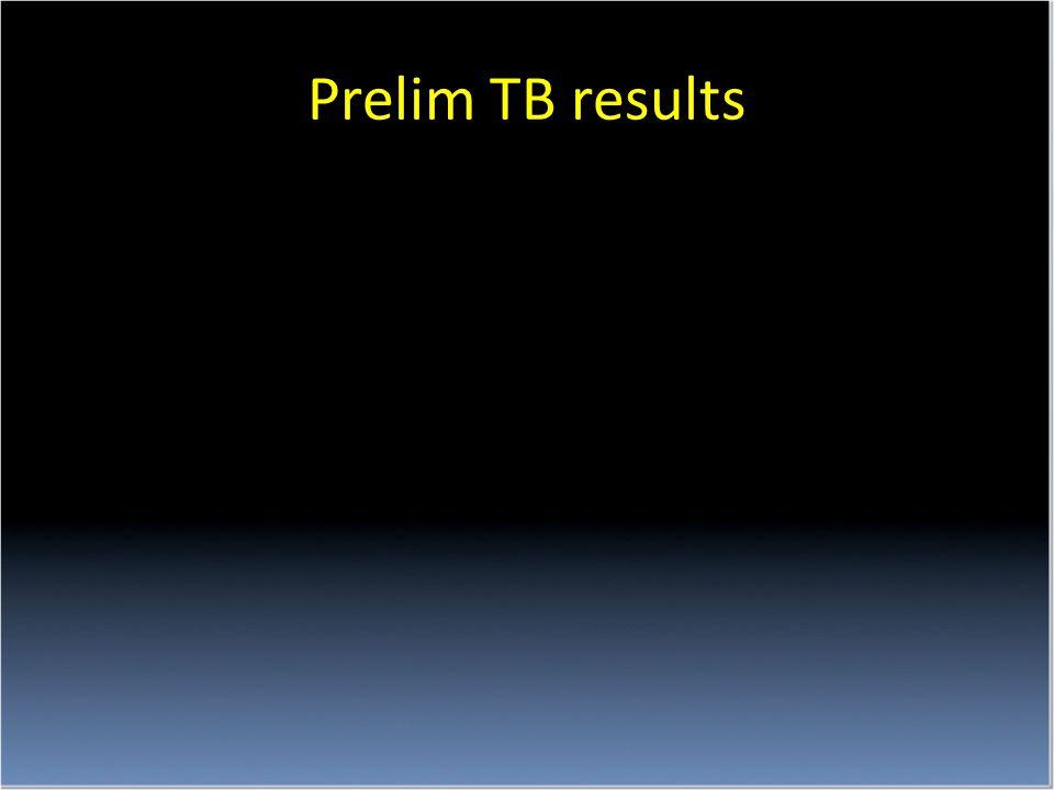 Prelim TB results