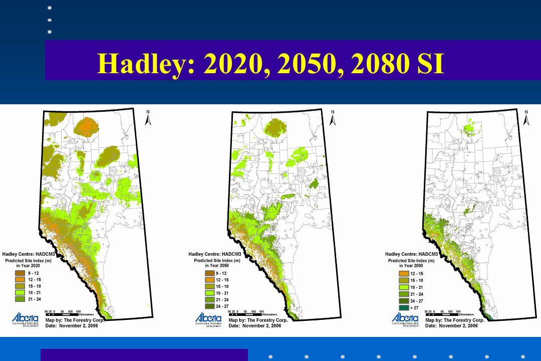 Hadley: 2020, 2050, 2080 SI