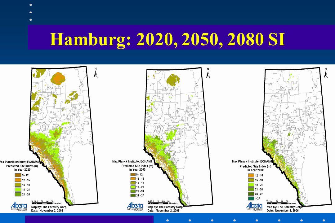 Hamburg: 2020, 2050, 2080 SI