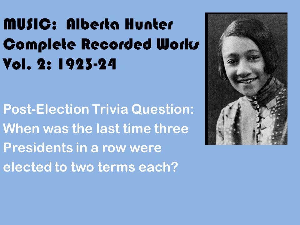 MUSIC: Alberta Hunter Complete Recorded Works Vol.