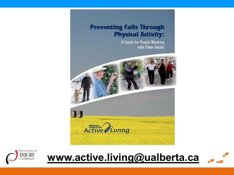 37 www.active.living@ualberta.ca