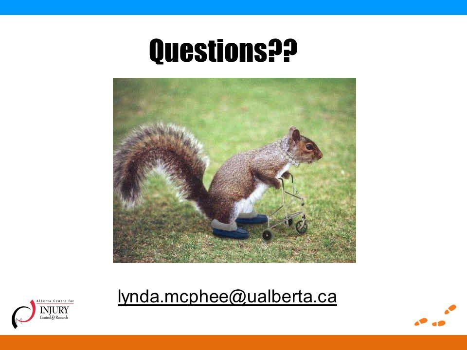 44 Questions lynda.mcphee@ualberta.ca