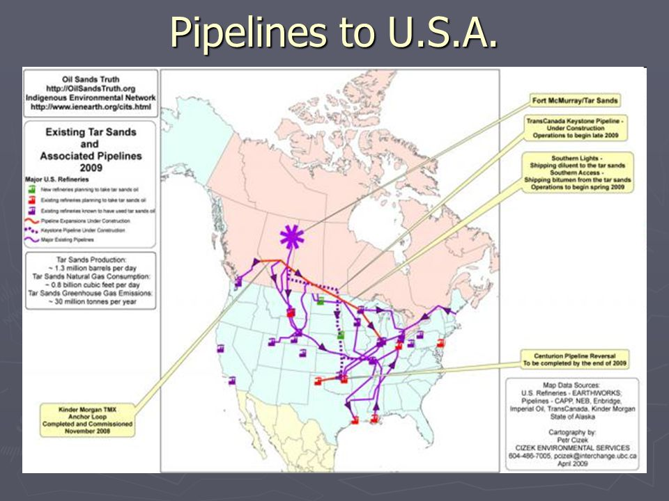 Pipelines to U.S.A.
