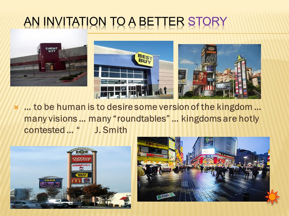  … to be human is to desire some version of the kingdom … many visions … many roundtables … kingdoms are hotly contested … J.