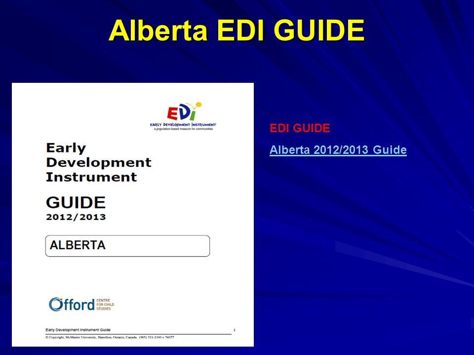Alberta EDI GUIDE EDI GUIDE Alberta 2012/2013 Guide
