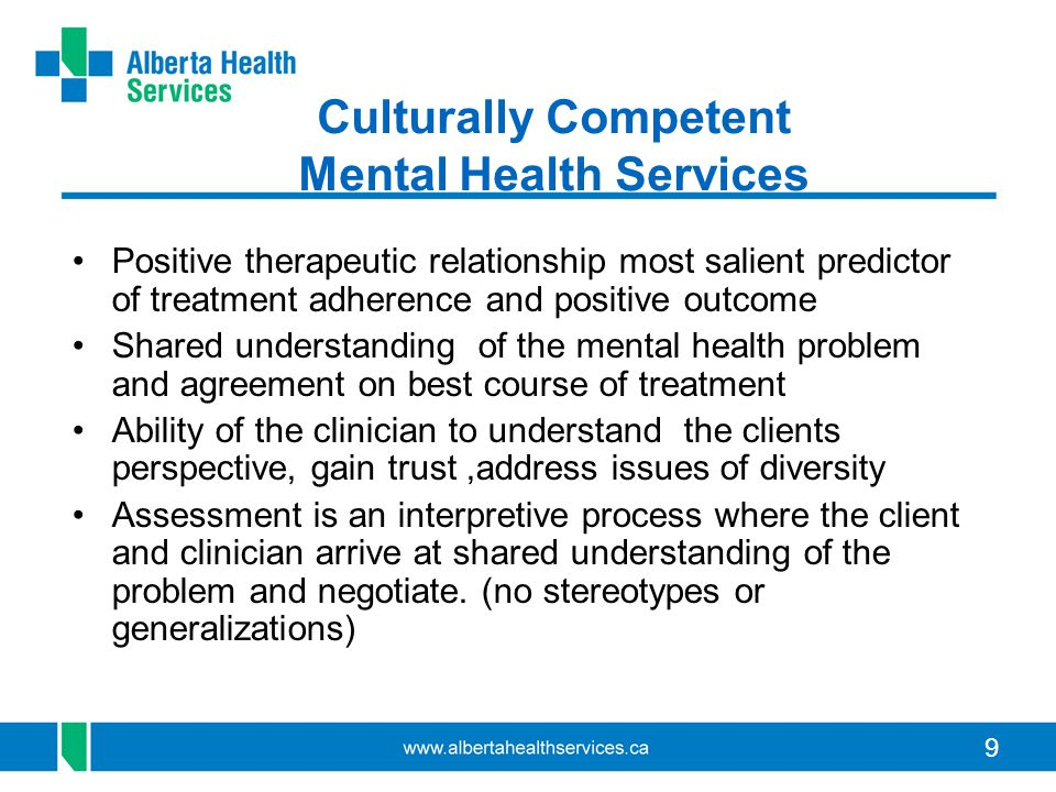 10 Interpretive services Interpreter services should be engaged at the request of the client, and offered whenever a client's English language proficiency is questionable Interpreters should be engaged, as necessary or requested, at every stage of mental health care delivery.