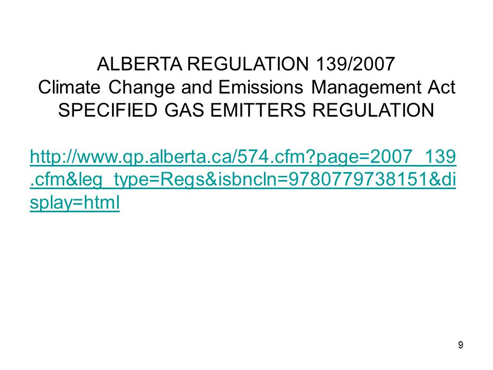 20 Allowed to Emit 232.3 kt/y If, in 2008, The Upgrader emits less than 232.3 kt of CO 2 Alberta Environment gives this many Emission Performance Credits to The Upgrader In 2008, the Upgrader produces 3.3 million Bbl of SCO.