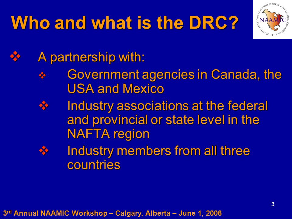 3 Who and what is the DRC.