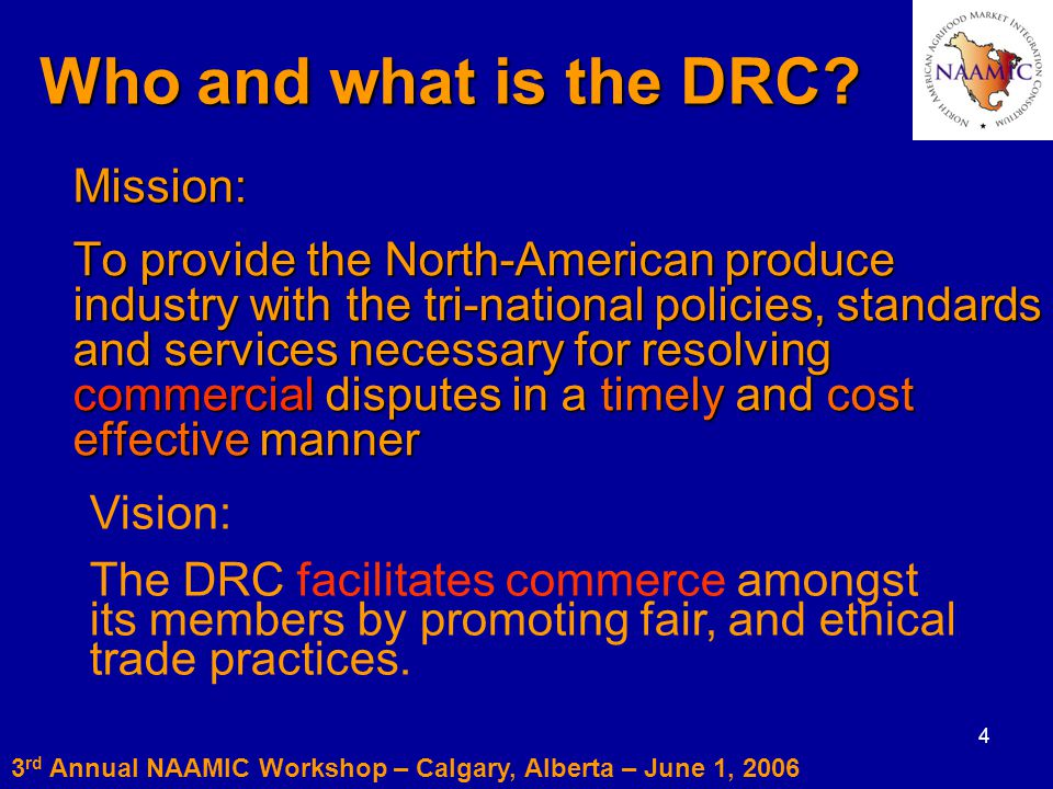 4 Who and what is the DRC.