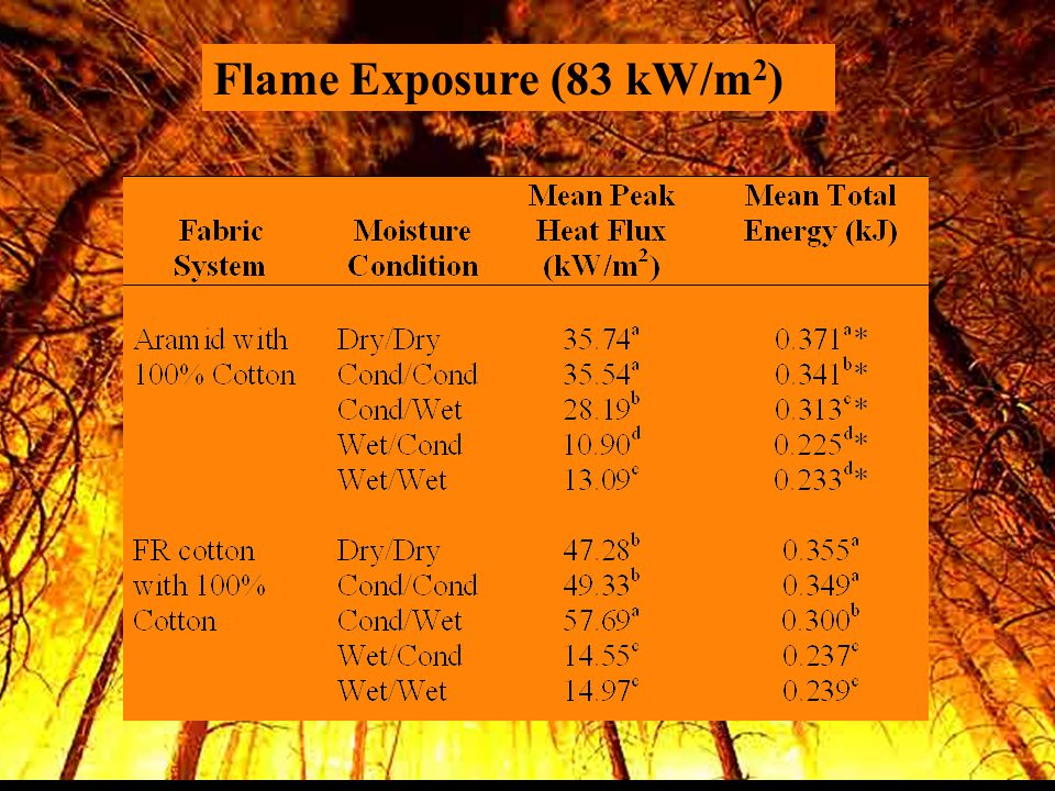 Flame Exposure (83 kW/m 2 )