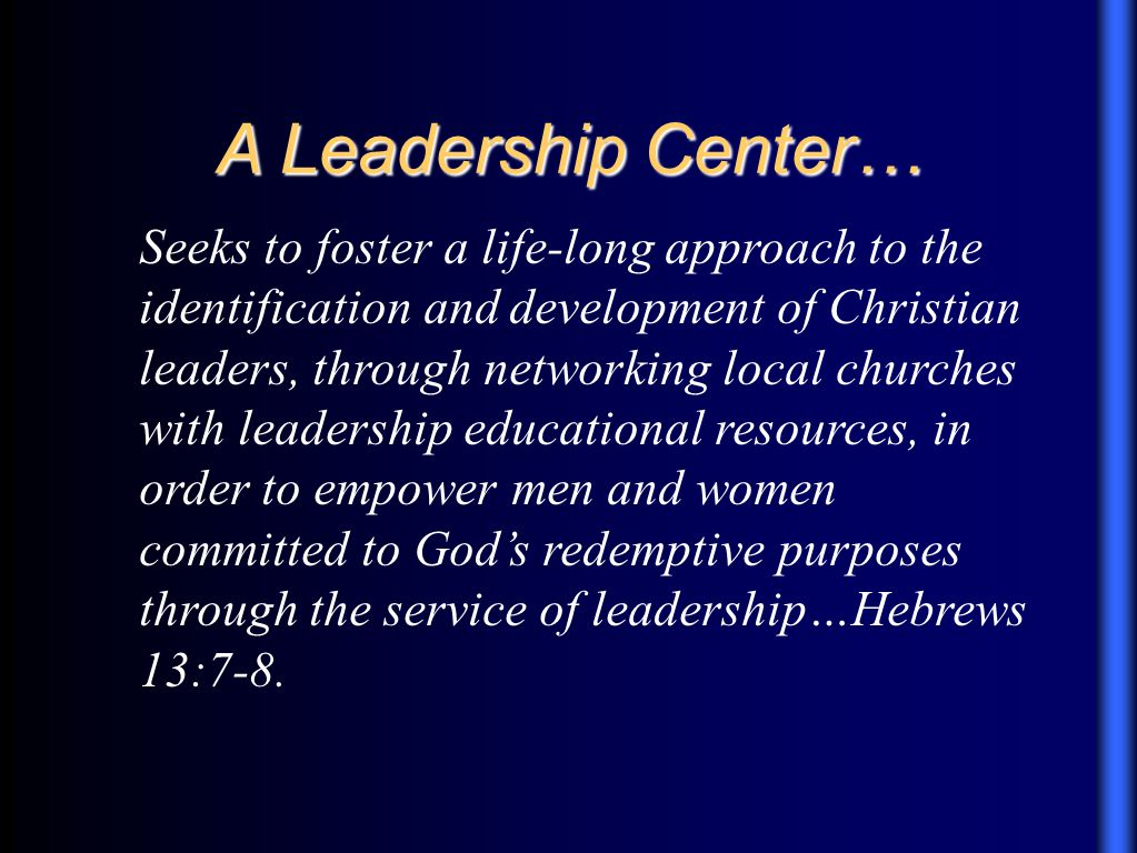 Focus 3 Leadership Development …was established by the Alberta Association, in order to provide intentional and purposive leadership development for the churches of the Alberta Association.
