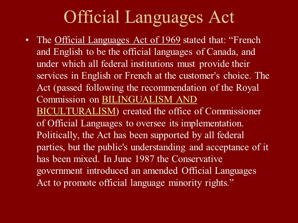 Continued Minority language education rights: section 23 of the Charter says that a French-speaking or English-speaking minority population of suffici