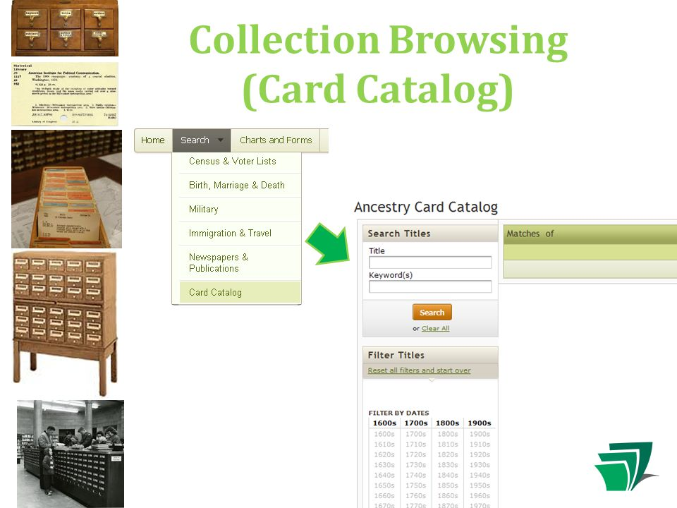 Collection Browsing (Card Catalog)