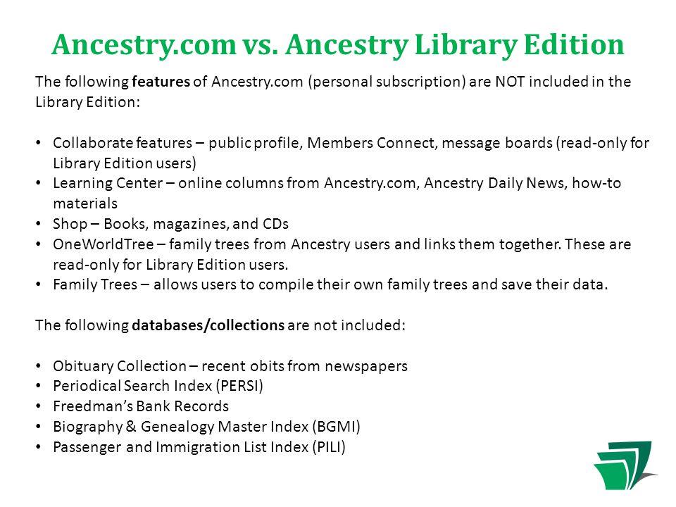 Ancestry.com vs.