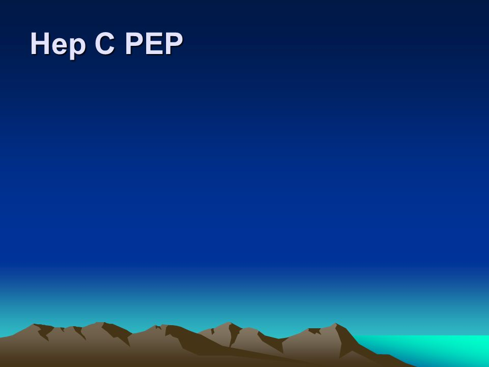 Hep C PEP