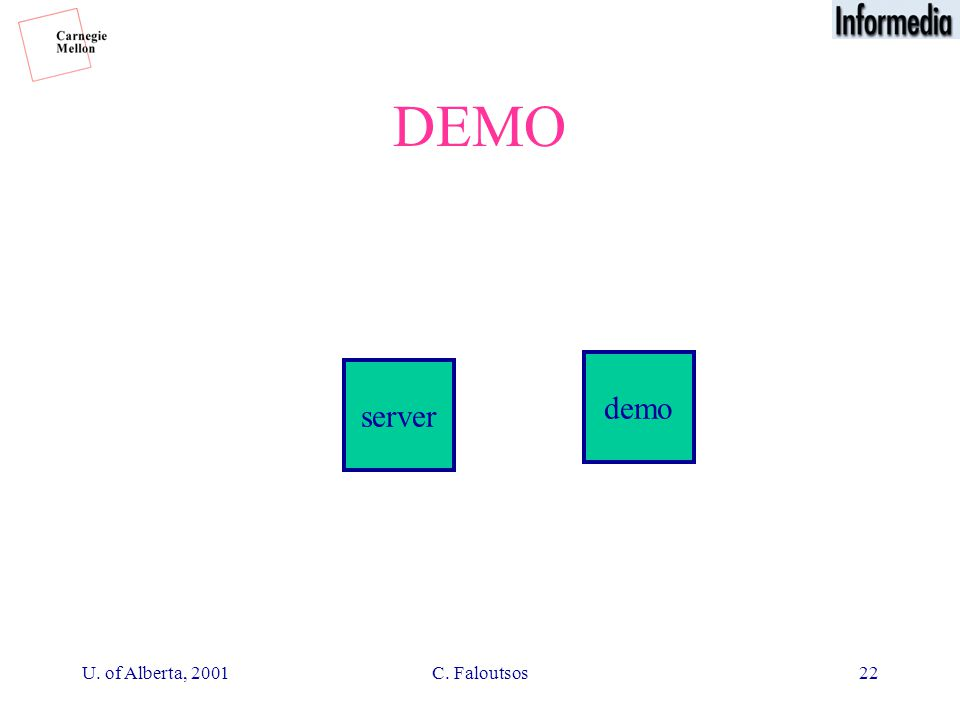 U. of Alberta, 2001C. Faloutsos22 DEMO server demo