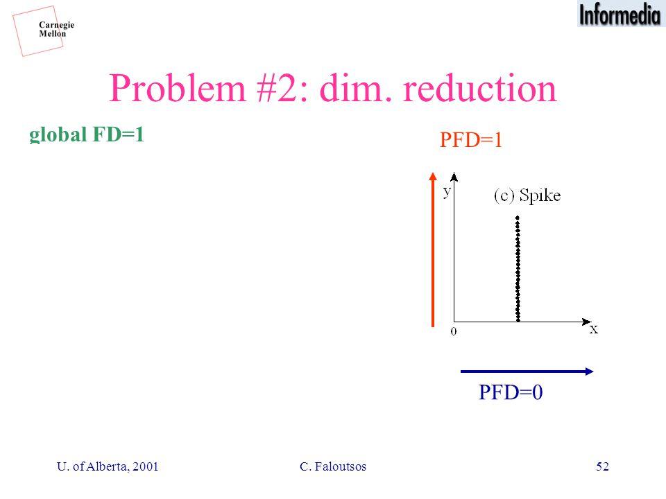 U. of Alberta, 2001C. Faloutsos52 Problem #2: dim. reduction PFD~1 global FD=1 PFD=1 PFD=0 PFD=1