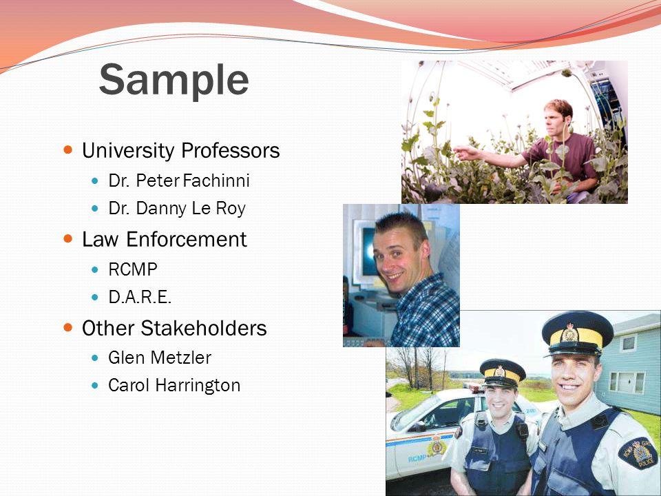 Sample University Professors Dr. Peter Fachinni Dr.