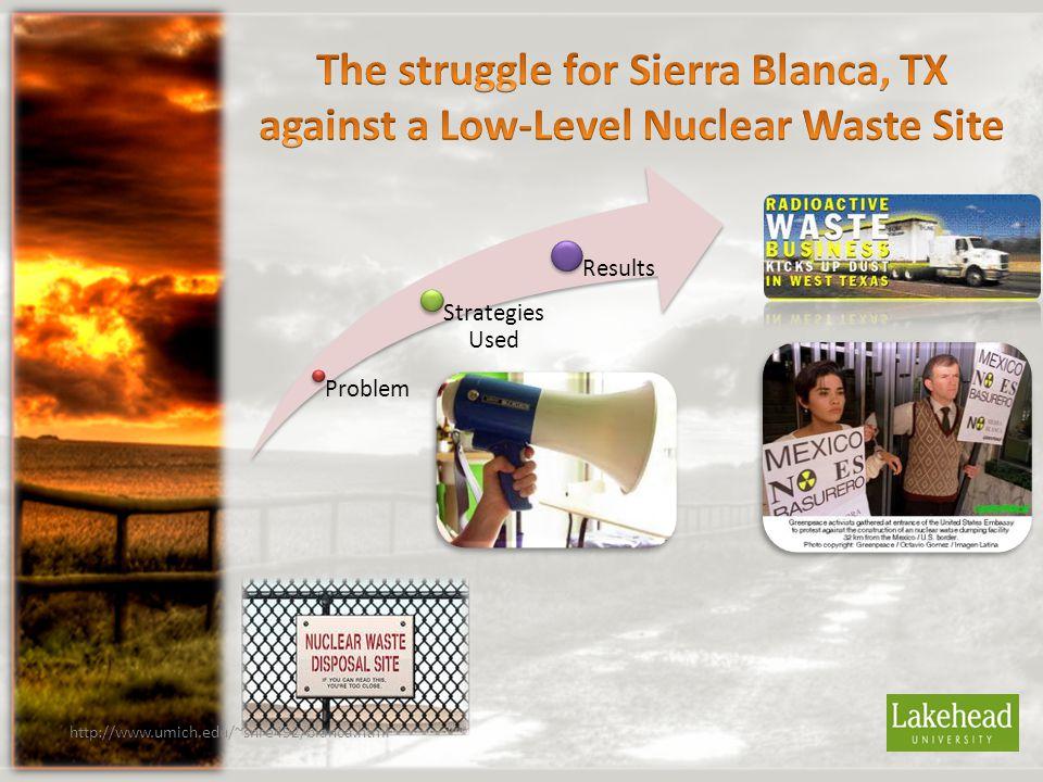 Problem Strategies Used Results http://www.umich.edu/~snre492/blanca.html