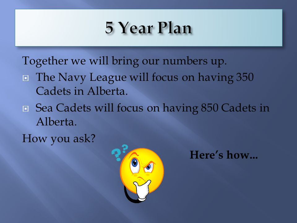  In September we will have 7 flourishing NL Cadet Corps in Alberta.
