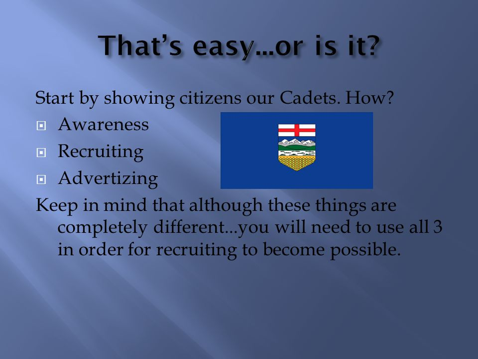 As the President of Alberta, these are my thoughts and ideas for our future success.
