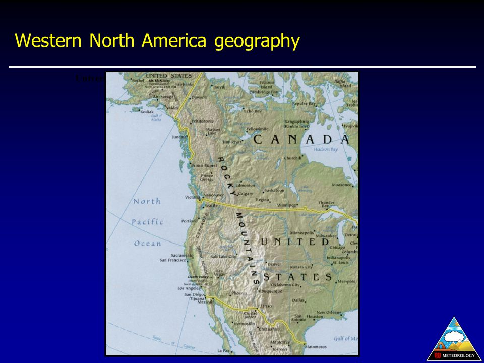 Western North America geography University of Texas/U.S. CIA