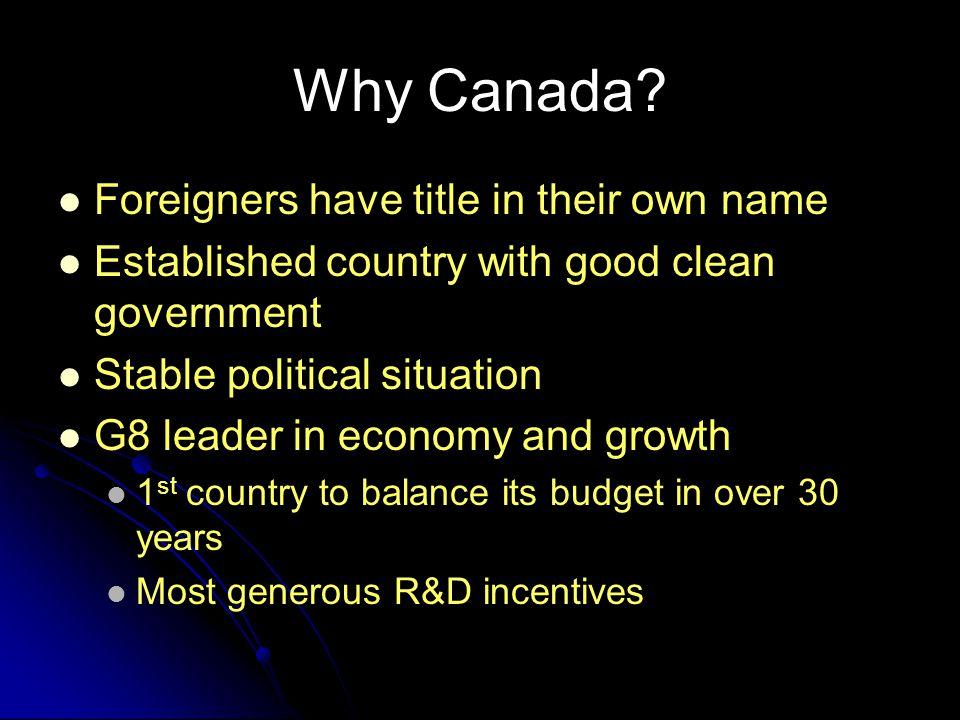 Why Canada.