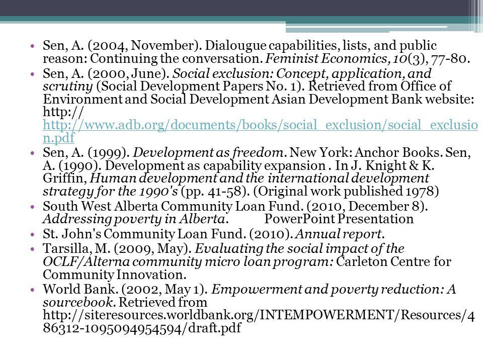 Sen, A. (2004, November).