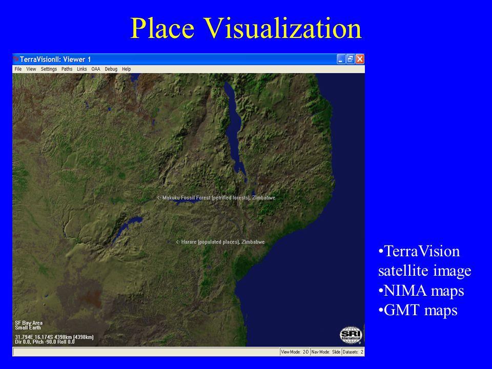 Place Visualization TerraVision satellite image NIMA maps GMT maps