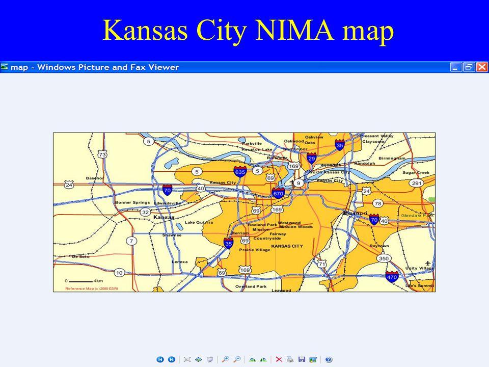 Kansas City NIMA map