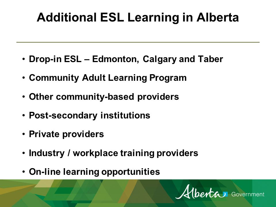 Community Adult Learning Program (CALP) EAE provides funding to 103 community organizations to offer part-time, non-credit learning opportunities for adults in Alberta.