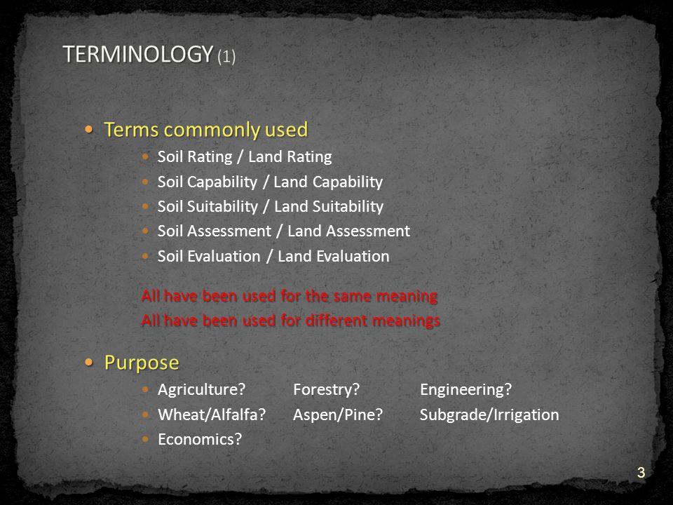 What terms should be used What terms should be used .