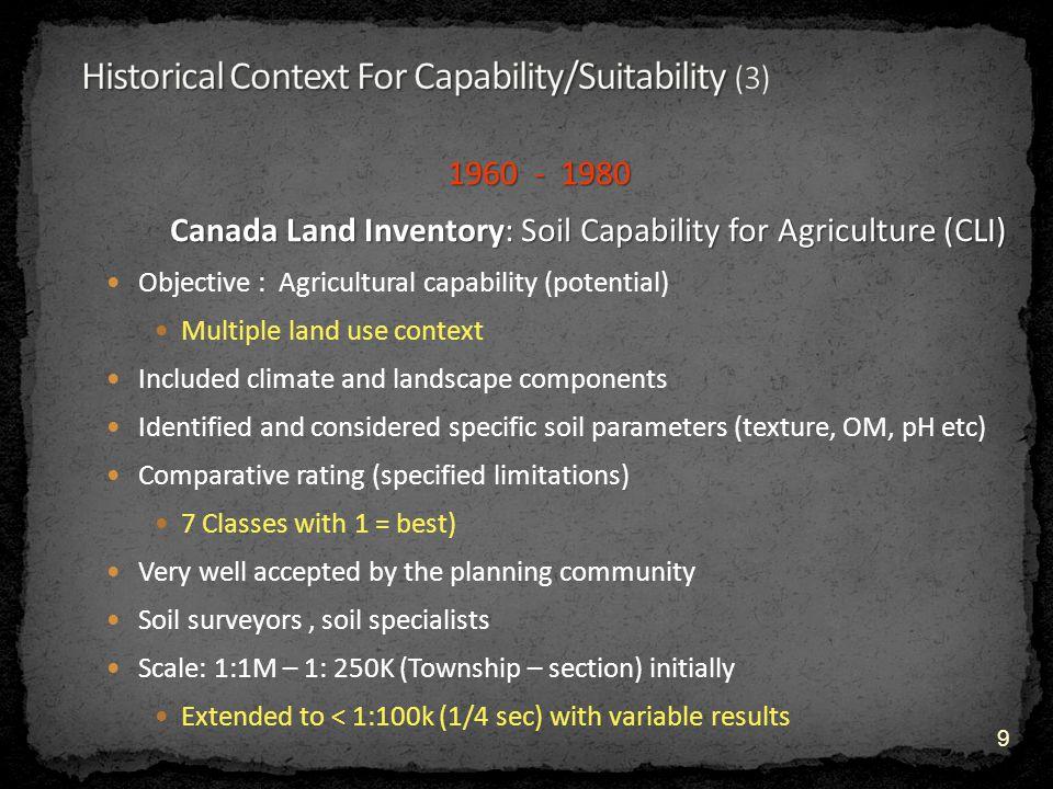 Soil Factors Soil Factors (cont) chemical conditions chemical conditions salinity sodicity drainage drainage water table (with climate) 20