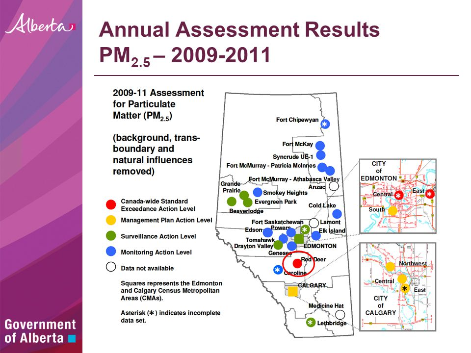 Annual Assessment Results PM 2.5 – 2009-2011