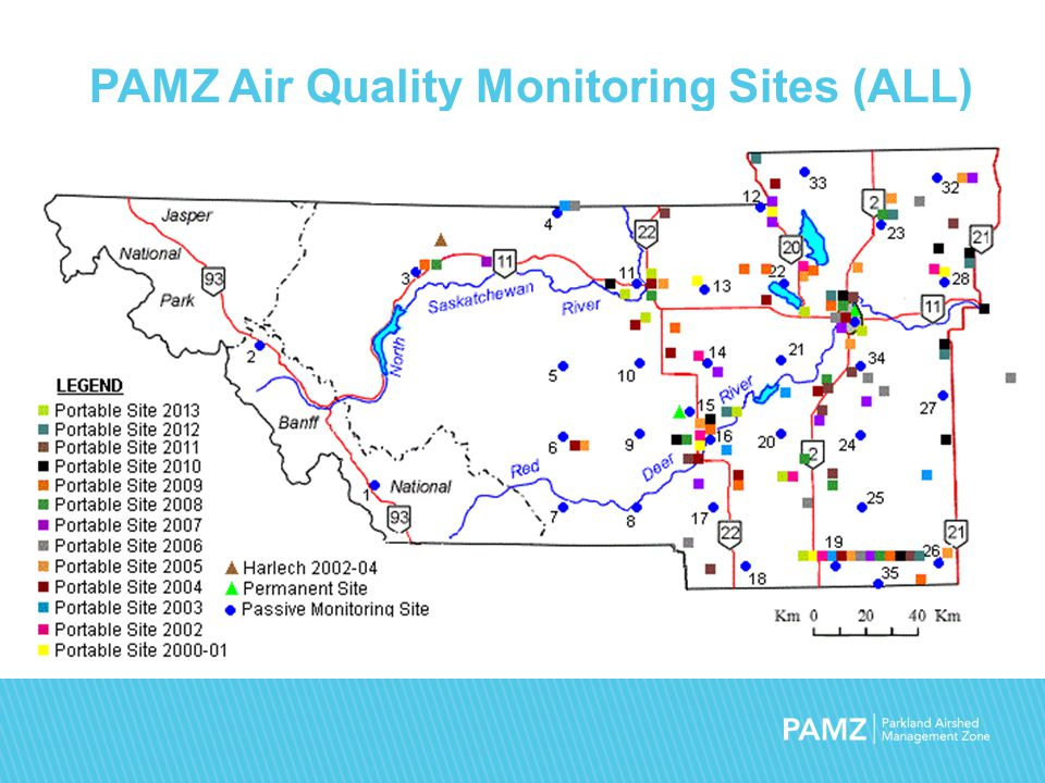 PAMZ Air Quality Monitoring Sites (ALL)