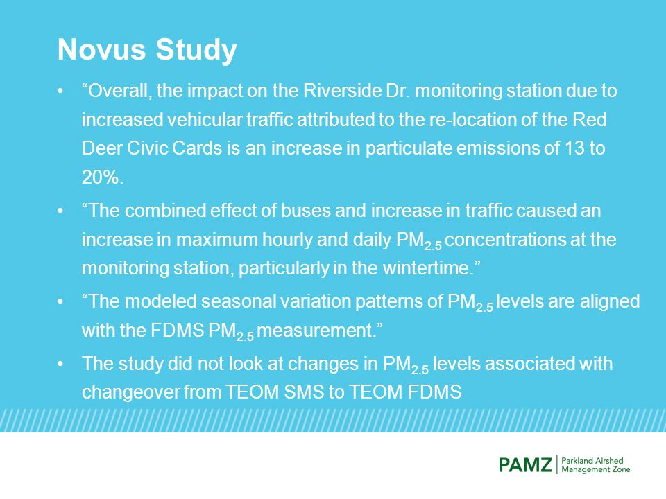 Novus Study Overall, the impact on the Riverside Dr.