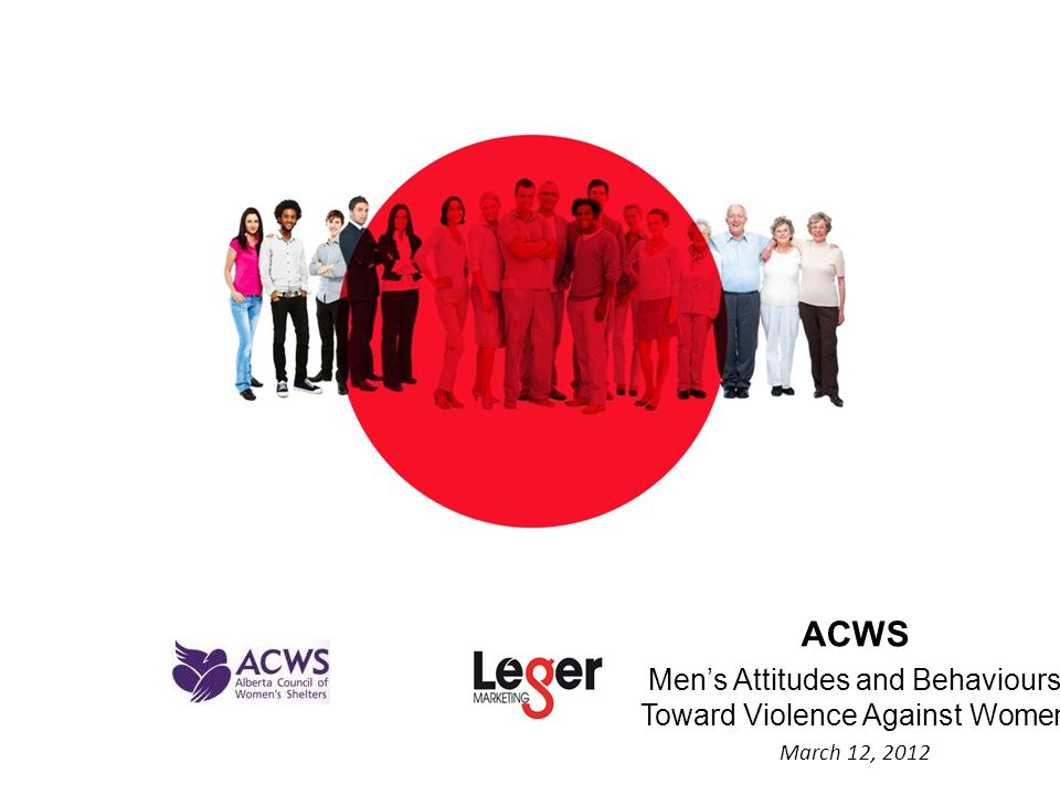 ACWS Men's Attitudes and Behaviours Toward Violence Against Women March 12, 2012