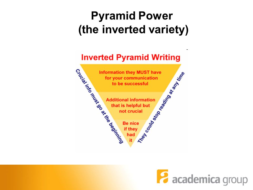 Pyramid Power (the inverted variety)