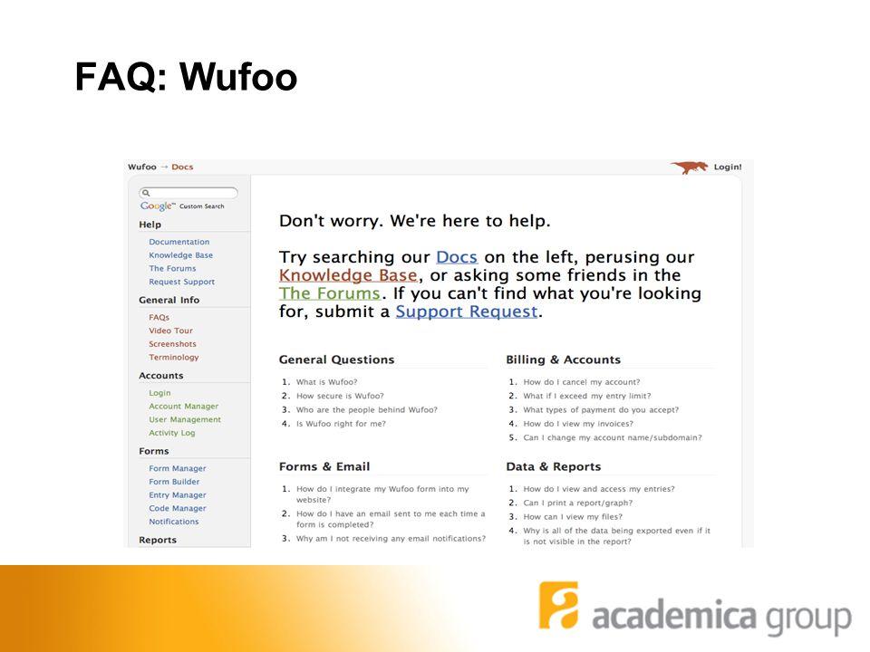 FAQ: Wufoo