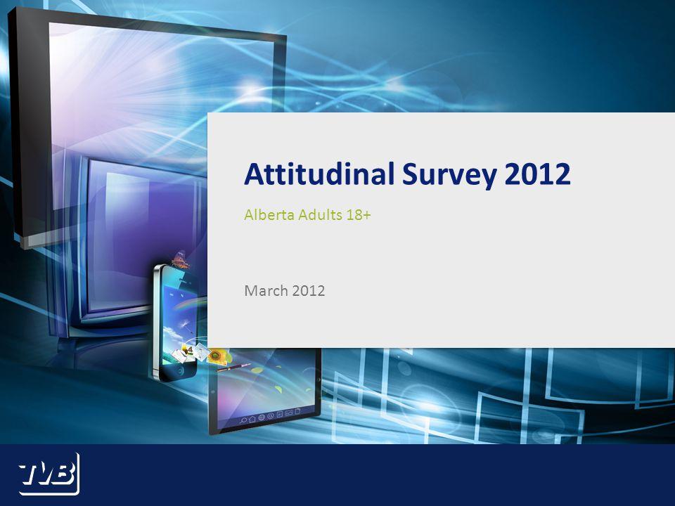 1 Attitudinal Survey 2012 Alberta Adults 18+ March 2012